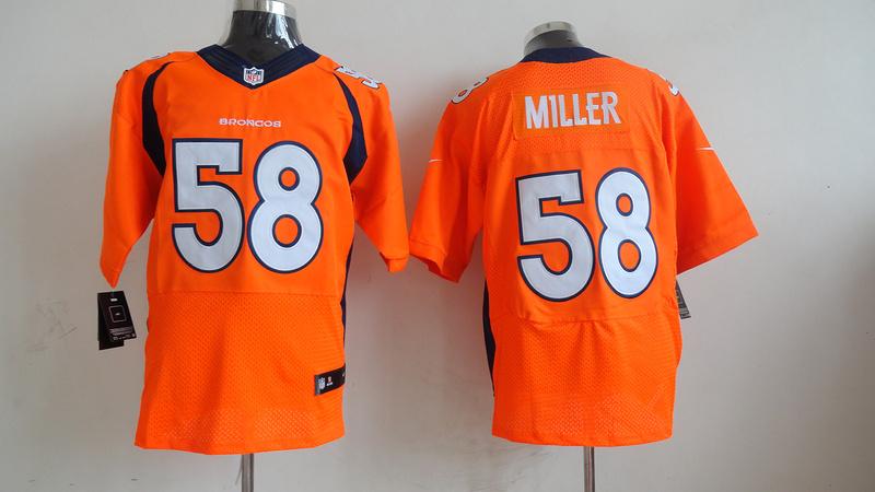 Denver Broncos 58 Von Miller Orange 2013 Nike Elite Jersey