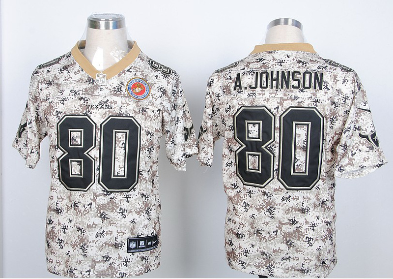 Houston Texans 80 A.Johnson Nike Camo USMccuu Jerseys