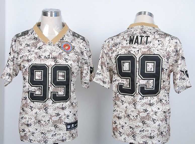 Houston Texans 99 Watt Nike Camo USMccuu Jerseys