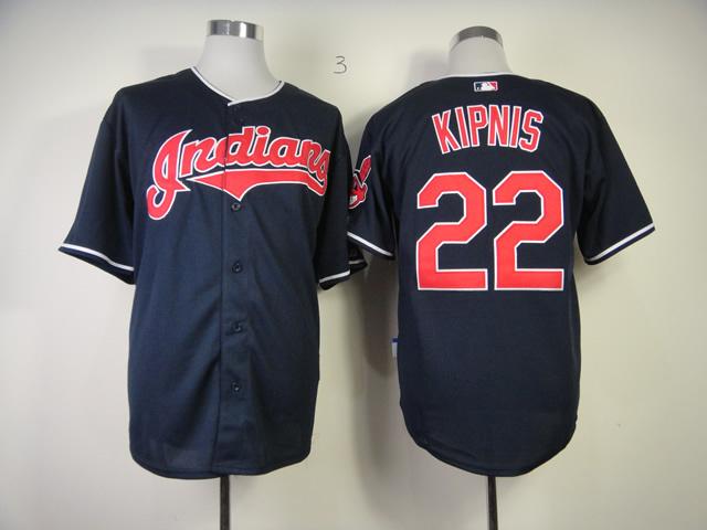 MLB Cleveland Indians 22 Jason Kipnis Blue Jersey