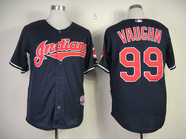 MLB Cleveland Indians 99 Ricky Vaughn Blue Jersey