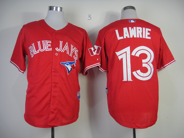 MLB Toronto Blue Jays 13 Lawrie 2013 Authentic Canada Day Jersey