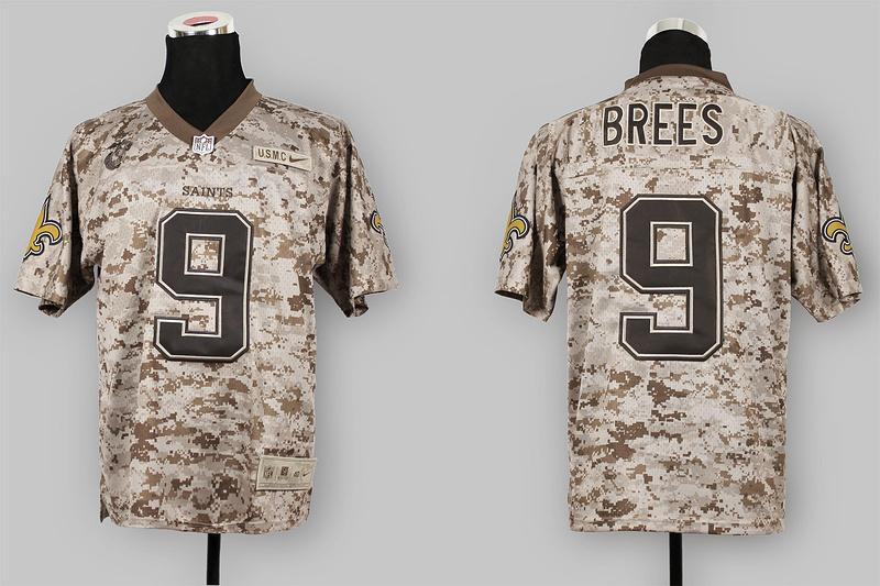 New Orleans Saints 9 Drew Brees Nike Elite Camo US.Mccuu 2013 New Jerseys