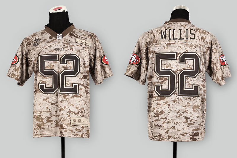San Francisco 49ers 52 Willis Nike Elite Camo US.Mccuu 2013 New Jerseys