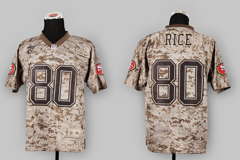 San Francisco 49ers 80 Jerry Rice Nike Elite Camo US.Mccuu 2013 New Jerseys