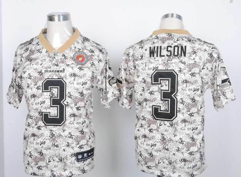 Seattle Seahawks 3 Wilson Nike Camo USMccuu Jerseys