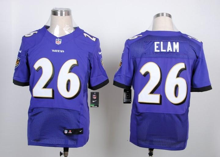 Baltimore Ravens 26 Elam purple 2013 Nike Elite Jerseys