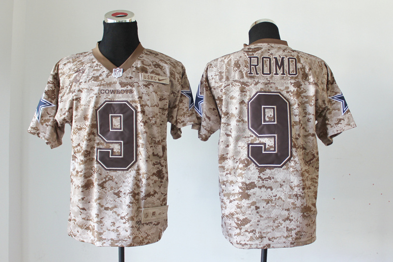 Dallas cowboys 9 Romo Nike Elite Camo US.Mccuu 2013 New Jerseys