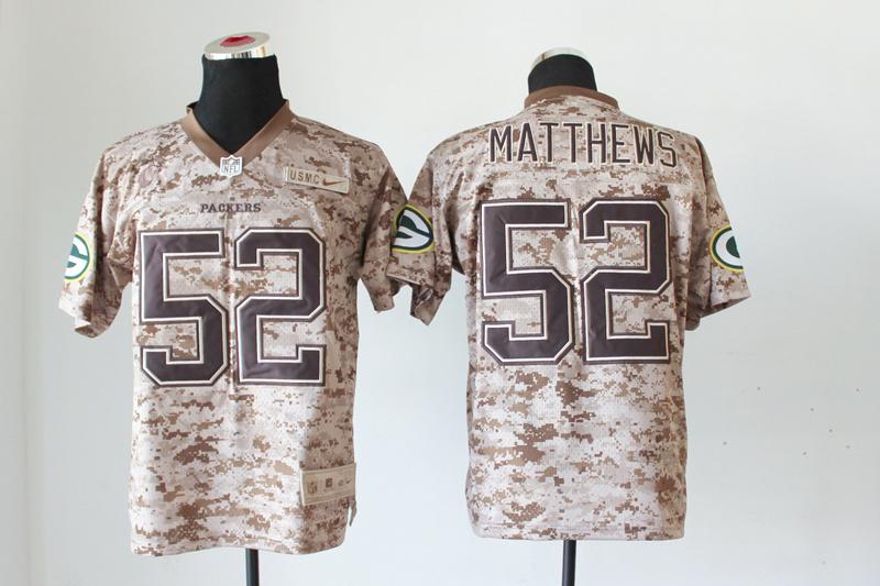 Green Bay Packers 52 Matthews Nike Elite Camo US.Mccuu 2013 New Jerseys