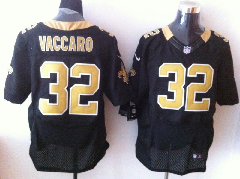 New Orleans Saints 32 Vaccaro Black 2013 Nike Elite Jerseys