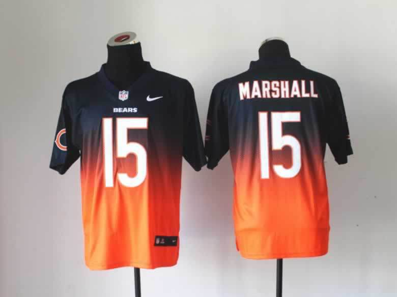 NFL Nlike Drift Fashion II Elite Chicago Bears #15 Marshall Blue&Orange