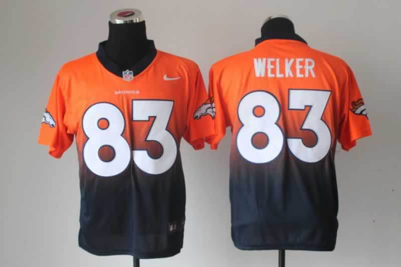NFL Nlike Drift Fashion II Elite Denver Broncos 83 Welker Blue&Orange