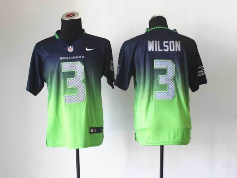 NFL Nlike Drift Fashion II Elite Seattle Seahawks 3 Wilson Blue&Green