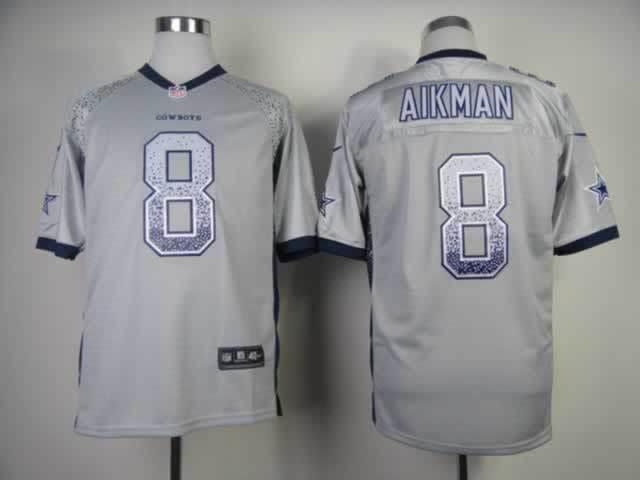 Nike Drift Fashion Elite Dallas Cowboys 8 Aikman Grey