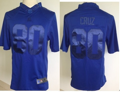 Nike New York Giants 80 Cruz NFL Drenched Limited Royal Blue Jersey