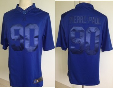 Nike New York Giants 90 Pierre-Paul NFL Drenched Limited Royal Blue Jersey