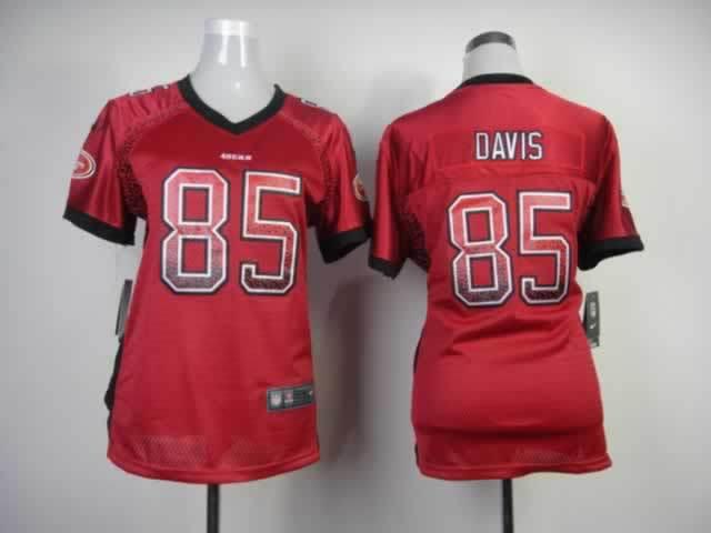 Nike Women Drift Fashion Elite San Francisco 49ers 85 Davis Red