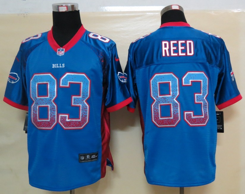 2013 New Nike Buffalo Bills 83 Reed Drift Fashion Blue Elite Jerseys