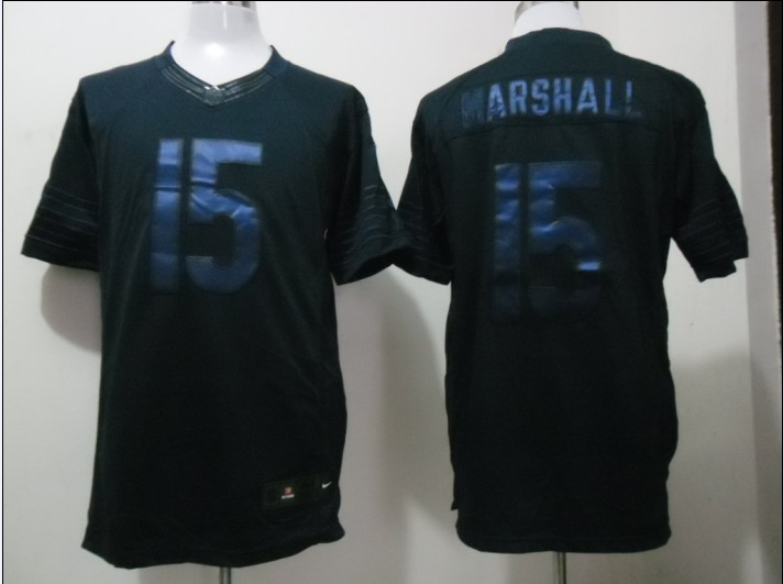 Chicago Bears 15 Marshall Blue Nike Limited Drenched Jersey