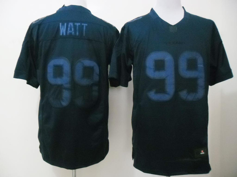 Houston Texans 99 J. J. Watt Blue Nike Limited Drenched Jersey