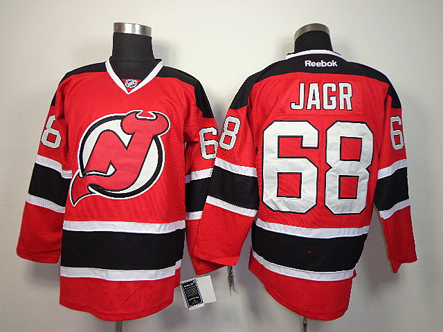 NHL New Jersey Devils 68 Jagr red Jerseys