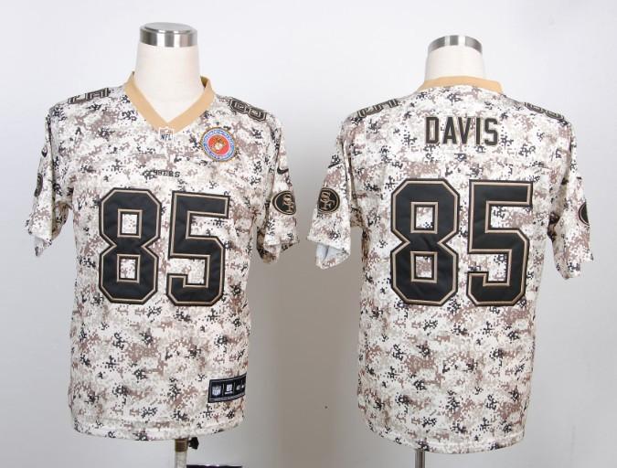 San Francisco 49ers 85 Davis Nike Camo USMccuu Jerseys