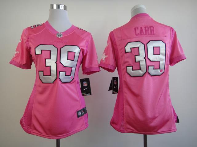 Womens Dallas Cowboys 39 Brandon Carr Nike Pink Love's Jersey