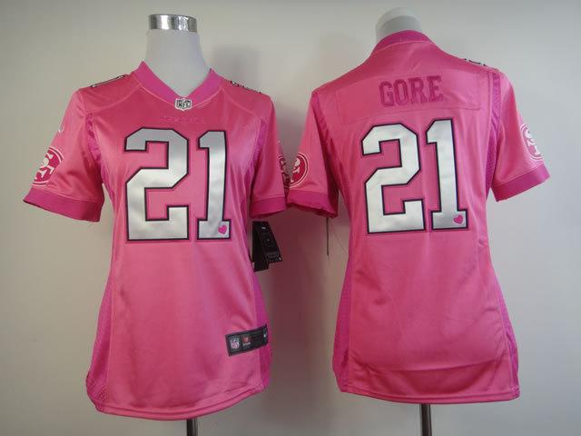 Womens San Francisco 49ers 21 Frank Gore Nike Pink Love's Jersey