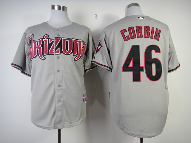 MLB Arizona Diamondbacks 46 Patrick Corbin Grey Jersey