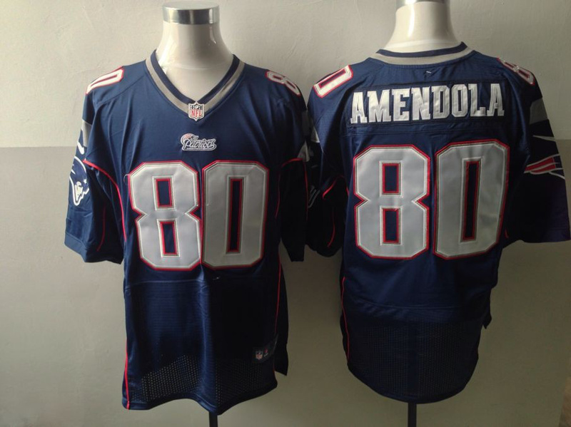 New England Patriots 80 Danny Amendola Blue Nike 2013 Elite Jerseys