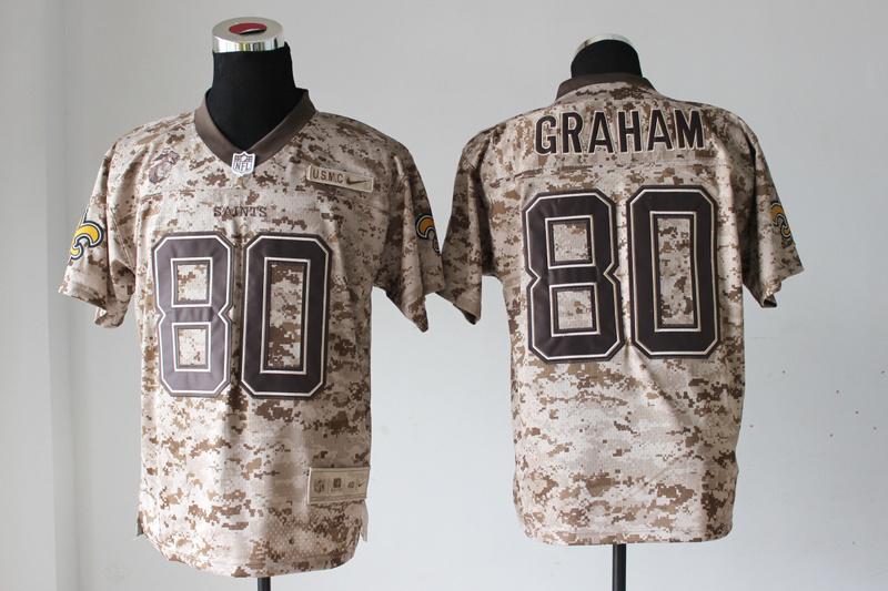 New Orleans Saints 80 Graham Nike Elite Camo US.Mccuu 2013 New Jerseys