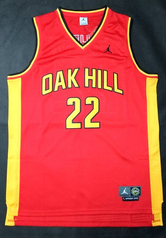 NBA NCAA Oak Hill 22 Carmelo Anthony Red Basketball Jersey