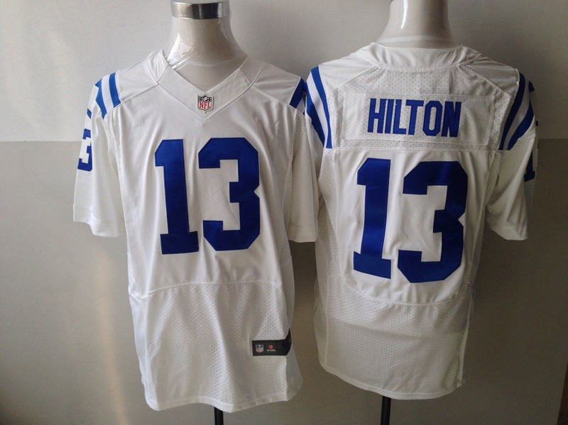 Indianapolis Colts 13 T.Y. Hilton White 2013 Nike Elite Jersey
