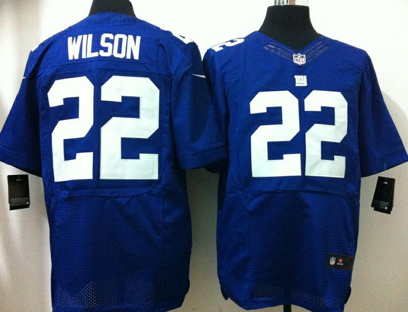 New York Giants 22 David Wilson Blue 2013 Nike Elite Jersey