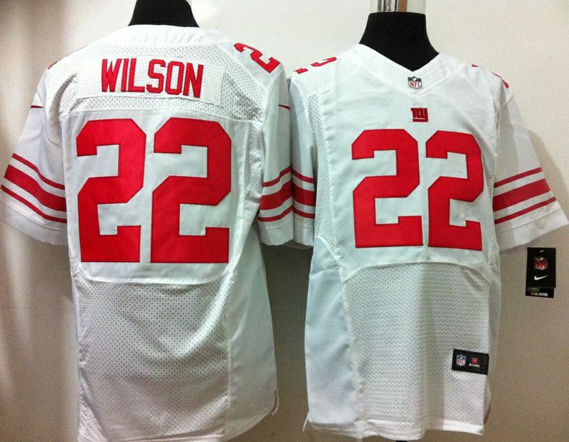 New York Giants 22 David Wilson White 2013 Nike Elite Jersey