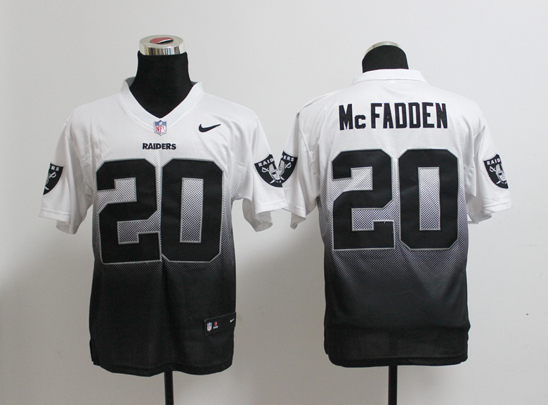 Oakland Raiders 20 Darren McFadden White Black Nlike Drift Fashion II Elite Jerseys