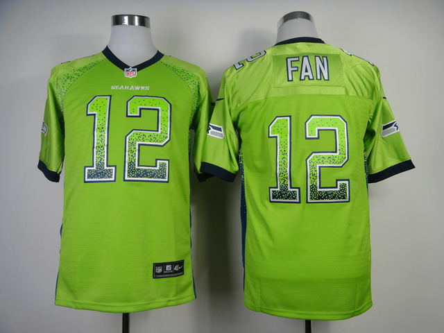 2013 New Nike Seattle Seahawks 12 Fan Drift Fashion Green Elite Jerseys
