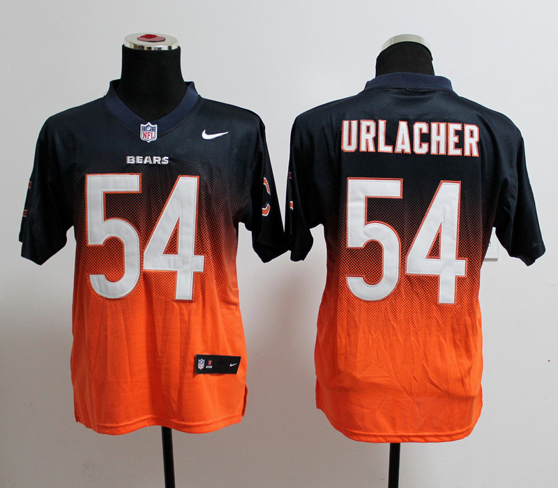 Chicago Bears 54 Brian Urlacher Blue Orange Nlike Drift Fashion II Elite Jerseys
