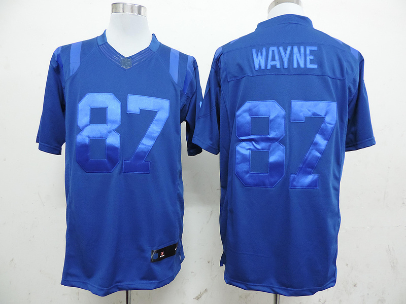 Indianapolis Colts 87 Reggie Wayne Blue Nike Limited Drenched Jersey