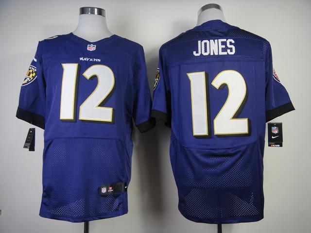 Baltimore Ravens 12 Jacoby Jones Purple 2013 New Nike Elite Jerseys