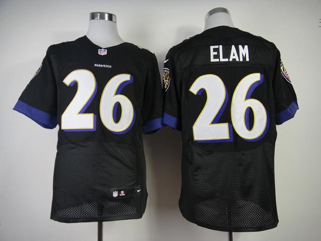 Baltimore Ravens 26 Elam Black 2013 New Nike Elite Jerseys