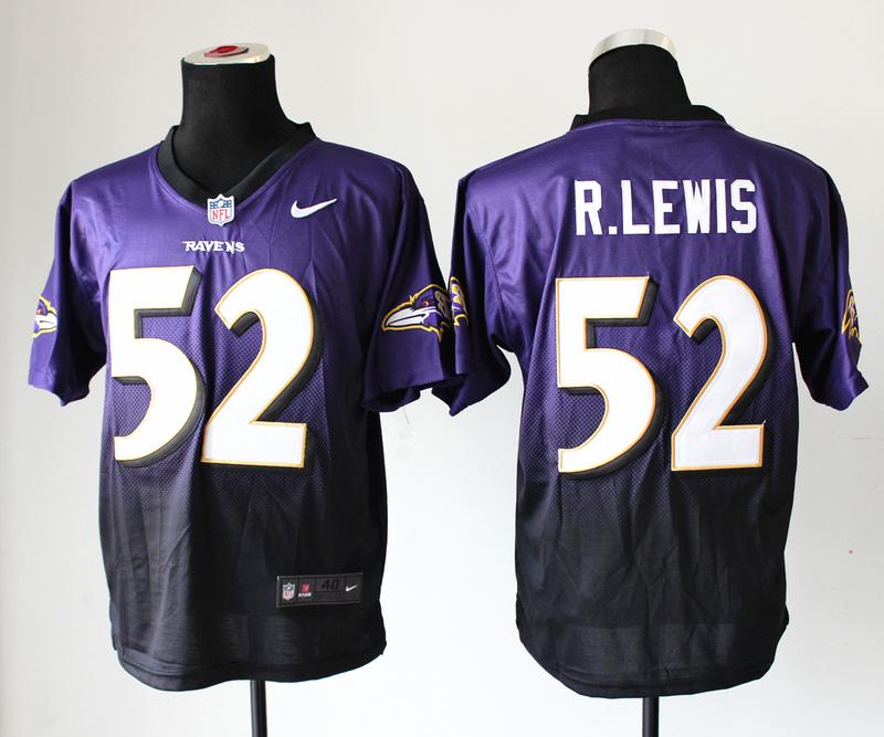 Baltimore Ravens 52 R.Lewis Purple Balck Nlike Drift Fashion II Elite Jerseys