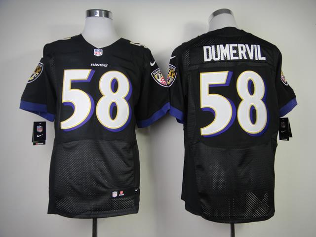Baltimore Ravens 58 Elvis Dumervil Black 2013 New Nike Elite Jerseys