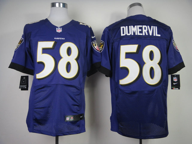 Baltimore Ravens 58 Elvis Dumervil Purple 2013 New Nike Elite Jerseys