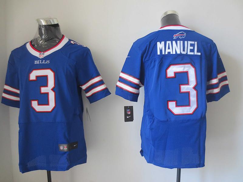 Buffalo Bills 3 EJ Manuel Blue 2013 New Nike Elite Jerseys
