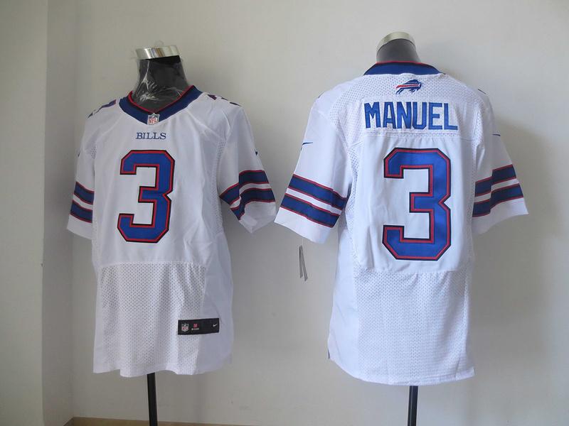 Buffalo Bills 3 EJ Manuel White 2013 New Nike Elite Jerseys