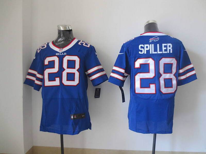 Buffalo Bills 28 CJ Spiller Blue 2013 New Nike Elite Jerseys