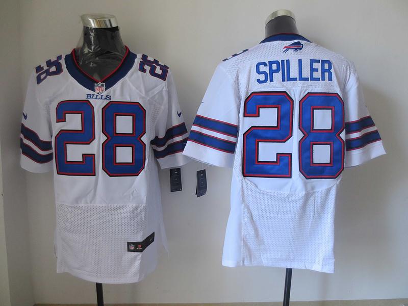 Buffalo Bills 28 CJ Spiller White 2013 New Nike Elite Jerseys