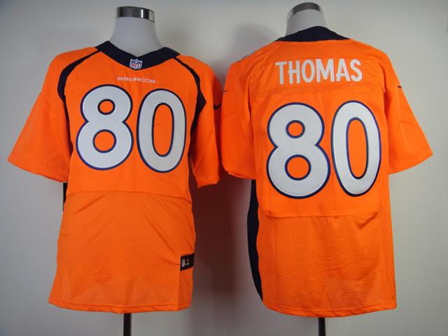 Denver Broncos 80 Thomas Orange 2013 New Nike Elite Jerseys