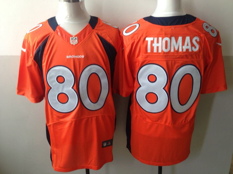 Denver Broncos 80 Thomas Orange Nike Elite Jerseys